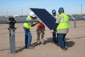 First Solar Panel Installed at Foothills Plant